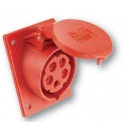 16 Amp 5 Pole Flanged Socket IP44