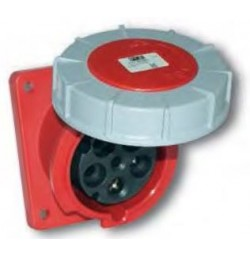 125 Amp 5 Pole Flanged Socket IP67