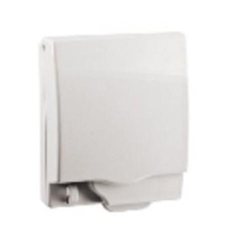Full time WP* rigid 1G socket cover - White - IP55