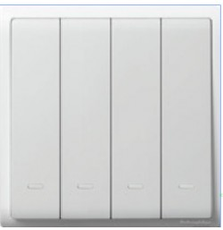 10AX/250V 4 Gang 2 Way Switch with Fluorescent Locator