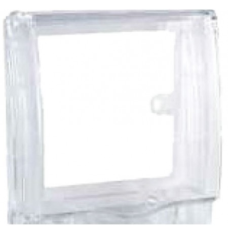 Full time WP* rigid 2G socket cover - Transparent - IP55