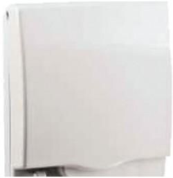 Full time WP* rigid 2G socket cover - White - IP55