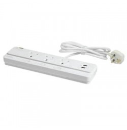 Power socket-outlet extension-surge protection + 2 USB Ports 3 Gangs-13A