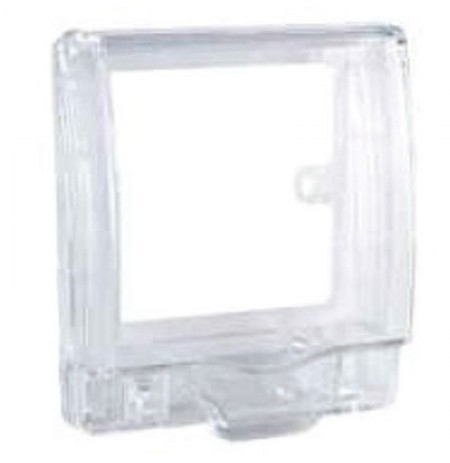 Full time WP* rigid 1G socket cover - Transparent - IP55