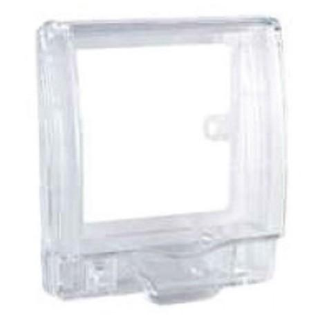 Full time WP* rigid 1G socket cover - Transparent - IP55