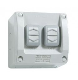 15A 250V 2 Gang 1/2 Way Surface Switch
