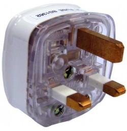 13A Fused 3 Pin Flat Plug