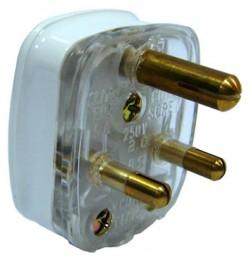 5A 3 Pin Round Plug