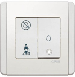 1 Gang Bell Press Switch With ' PCU & DND' Indicator *