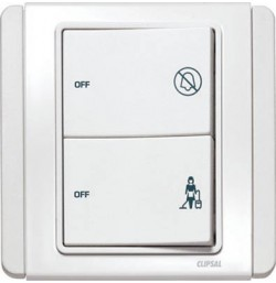 2 Gang Switch With 'DND' & 'PCU' Indicator *