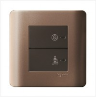 2 Gang Full-Flat Switch with Illuminated 'DND' & 'PCU' Symbols