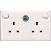 13A 3 Pin Flat Duplex Switched Socket with Surge Arrester