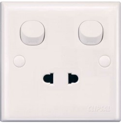 10A 2 Pin Universal Switched Socket
