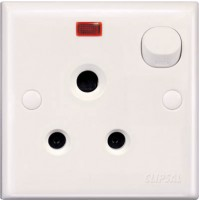 5A 3 Pin Round Switched Socket with Neon