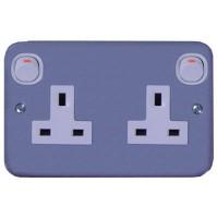 13A 3 Pin Flat Duplex Switched Socket