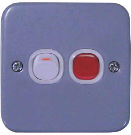 20A 250V Double Pole Switch with Neon