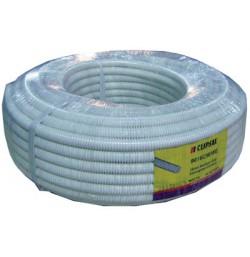 16mm PVC Corrugated Conduit (50mtr), White