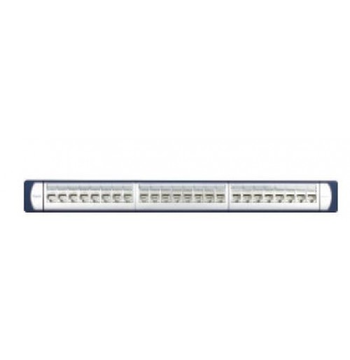 Equipped panel 1U UTP Cat 6A with 24 RJ 45  Keystone Connectors, Non - Shutter