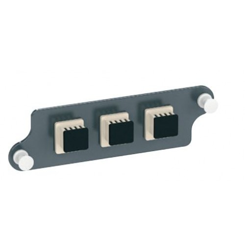 Coverplate provided with 3 LC duplex multimode adapters